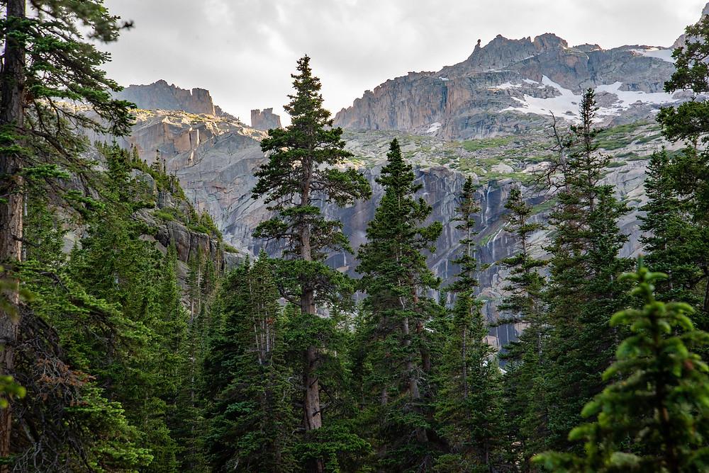 Glacier Gorge in Rocky Mountain National Park in Colorado