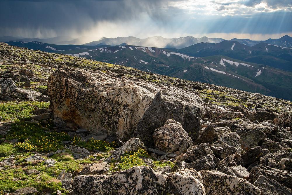Mummy Range in Rocky Mountain National Park in Colorado.