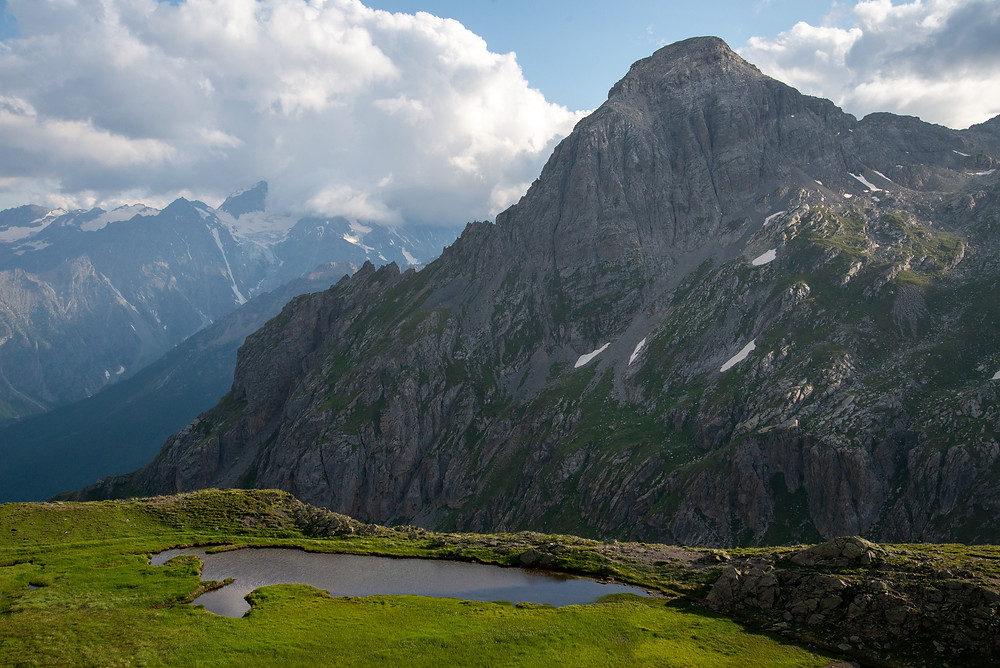 Mountains in the Alps of France.
