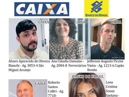 Veja quem são os delegados sindicais da Caixa e Banco do Brasil