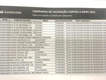 Vacinação no Santander