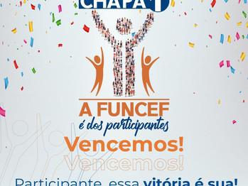 """Com 55,79% dos votos, Chapa 1 - """"A Funcef é dos Participantes"""" vence as eleições"""