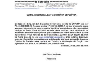 Edital Safra