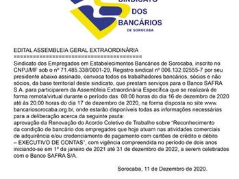 Assembleia do banco Safra