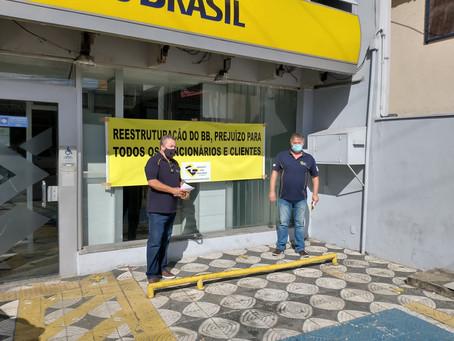 Sindicato faz protesto e paralisação contra reestruturação do BB em Sorocaba e região