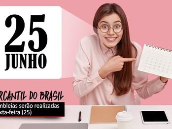 Dia 25 tem assembleias dos bancários do Mercantil do Brasil