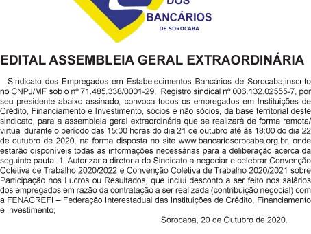 EDITAL ASSEMBLEIA GERAL EXTRAORDINÁRIA - FINANCEIRAS