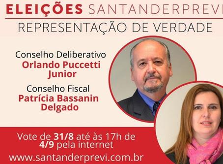 ATENÇÃO! ÚLTIMO DIA PARA VOTAÇÃO NO SANTANDERPREVI!