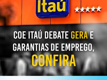 COE Itaú reivindica suspensão das demissões e do GERA