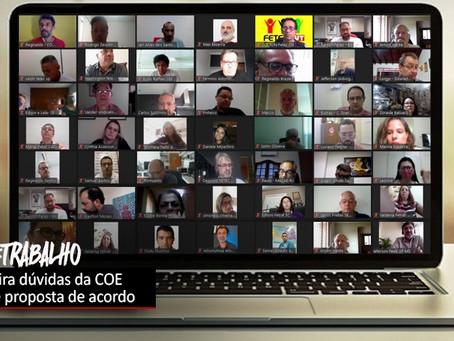 COE cobra e Itaú explica acordo de teletrabalho e quitação das obrigações do registro de ponto