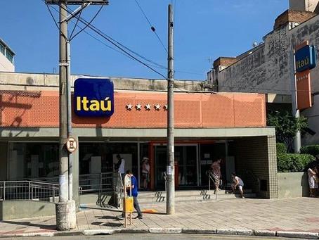 Banco Itaú interrompe temporariamente suas atividades em São Roque