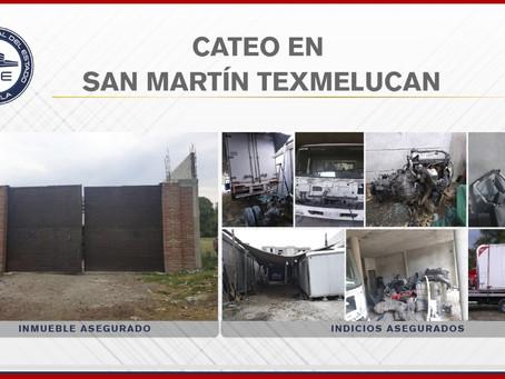 Aseguran vehículo robado y autopartes en cateo de Texmelucan