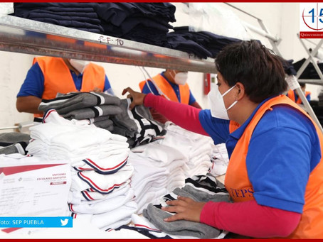Inicia SEP distribución de uniformes escolares