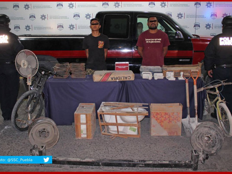 Caen tres en la colonia El Salvador por robo a inmueble