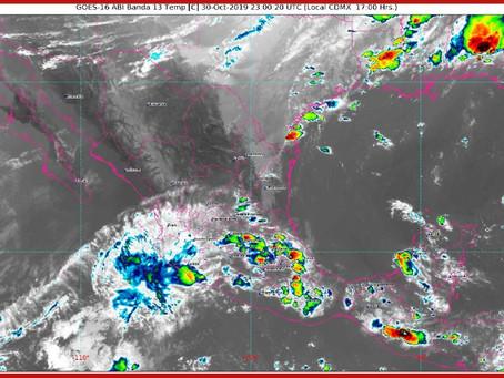 Pronostican lluvias fuertes en las próximas horas