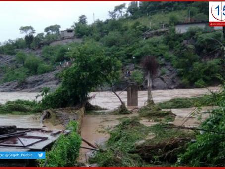 Pronostican lluvias y vientos en gran parte del territorio poblano