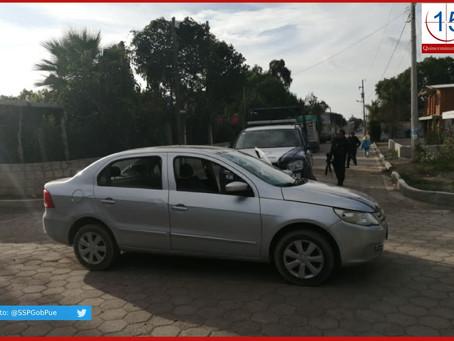 Recupera SSP vehículo con reporte de robo; hay tres detenidos