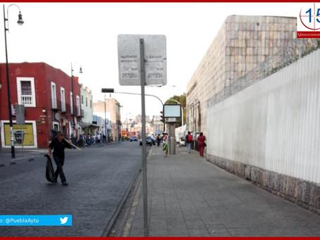 Retiran a ambulantes del Centro Histórico de Puebla por Covid-19