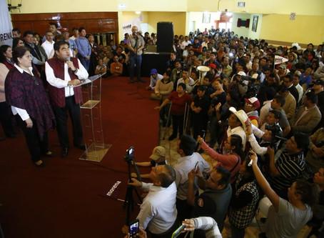 Devolver a Puebla la normalidad y la paz social, propone Barbosa