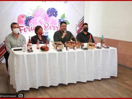 Ayuntamiento de Huejotzingo presenta la Feria de las Berries 2021