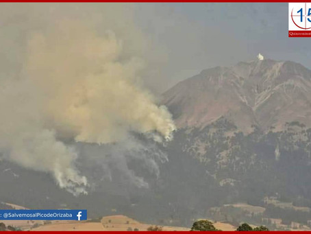 Mueren comisariado ejidal y vecino de Atzitzintla en incendio forestal del Citlaltépetl