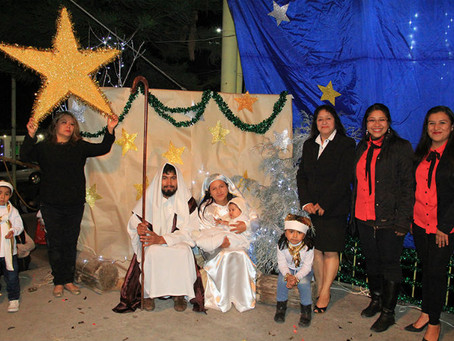 Niños de CAIC Xoxtla celebran su posada