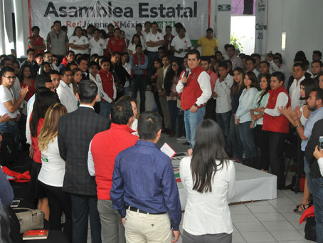 Toma protesta Lorenzo Rivera a delegados nacionales del sector juvenil del PRI