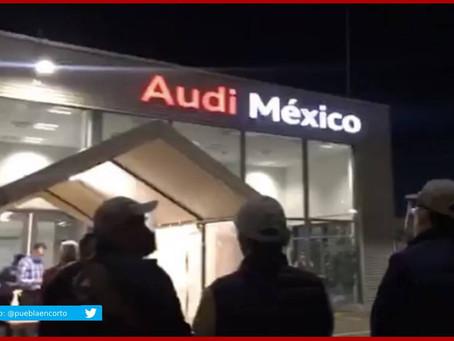 Con operativo amagan con clausurar Audi en San José Chiapa