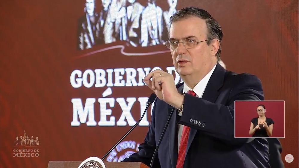 Mrcelo Ebrard, secretario de Relaciones Exteriores de México.
