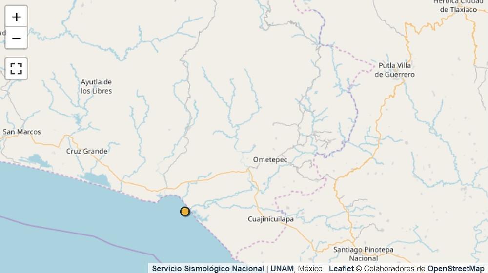 Sismo de 5.3 en costa de Guerrero