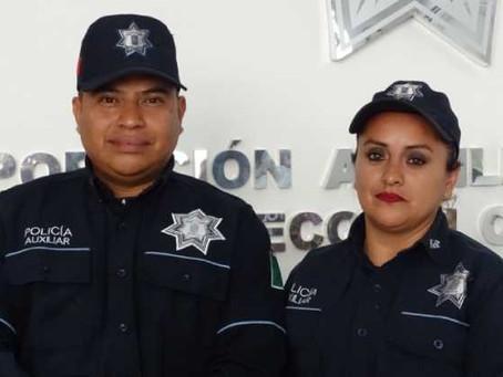 Policías Auxiliares regresan 6 mil pesos a su propietario