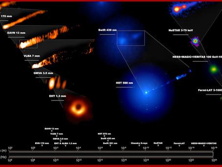 Telescopios se unen en observaciones sin precedentes de famoso agujero negro
