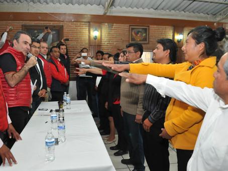 Cambia PRI otros ocho dirigentes y comités municipales