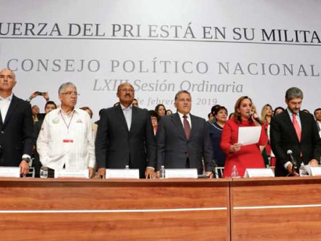 PRI solicitará a INE organizar proceso interno