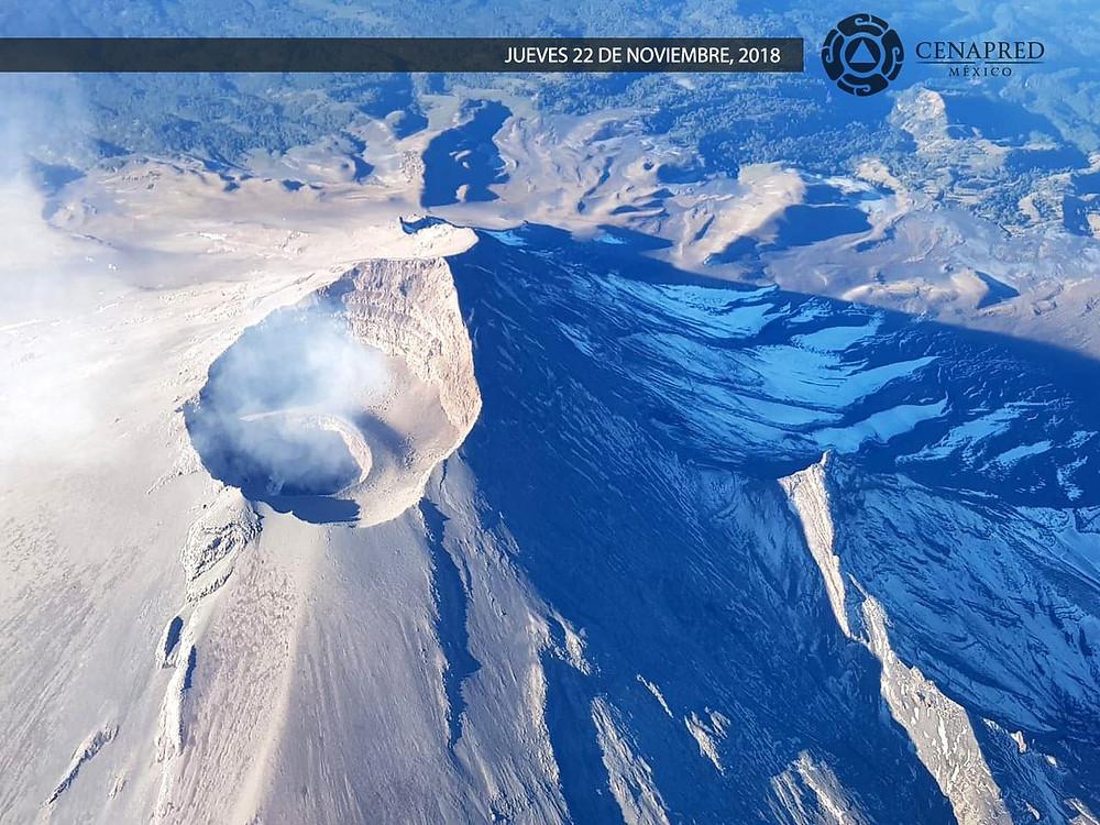 Volcán Popocatépetl, México.