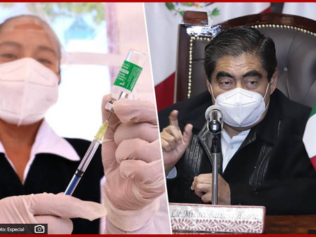 Se queda Puebla sin vacunas; pide Barbosa las sobrantes en CDMX
