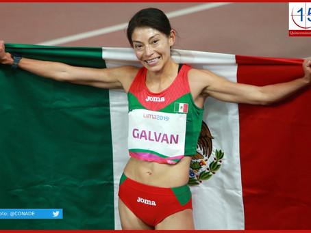 Sorprende la mexicana Laura Galván con oro en los 5 mil metros