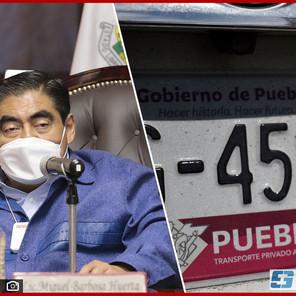 Cambio de placas en Puebla será obligatorio a partir de enero: MBH