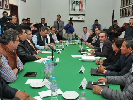 Se reúne Estefan Chidiac con líderes priistas