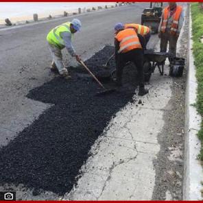 Intensifica Infraestructura bacheo en Tecamachalco y Nealtican