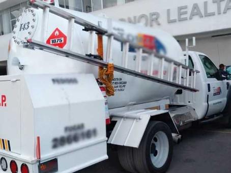 Aseguran pipa con 500 litros de hidrocarburo en Amozoc