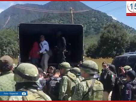 Rescatan a 213 migrantes en Acajete; hay un detenido