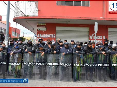 Blinda Norma Layón calles de Texmelucan contra ambulantes