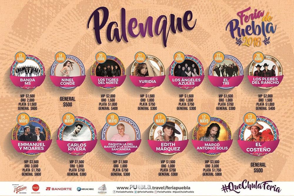 Cartel de la Feria de Puebla 2018