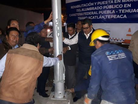 Sergio Salomón da banderazo de inicio de obras en Tepeaca