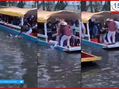 Se viraliza video de joven que se salva de morir ahogada en Xochimilco