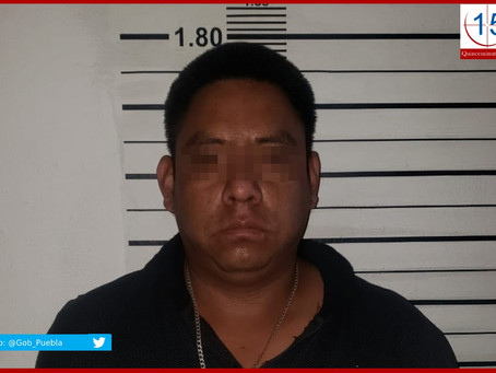 """Cae """"El Tavo"""", líder del robo a transporte de carga en Tehuacán"""