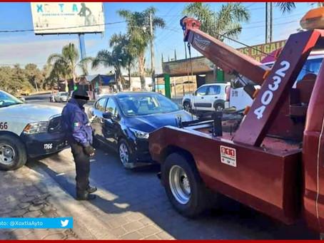 Recuperan en Xoxtla vehículo con reporte de robo