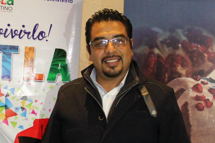 Miguel Ángel Hernández, alcalde de San Miguel Xoxtla (2014-2018).