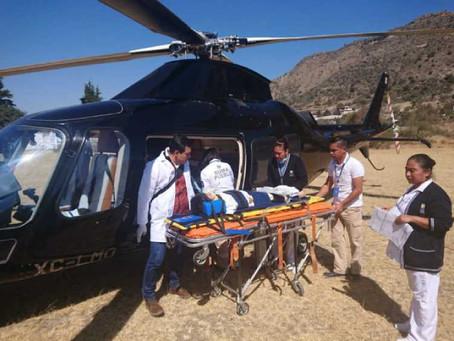 Gobierno de Puebla pone a disposición helicóptero Agusta para servicios de emergencia